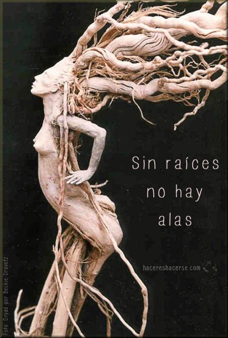 Sin raices no hay alas Dryad by Beckie Kravetz